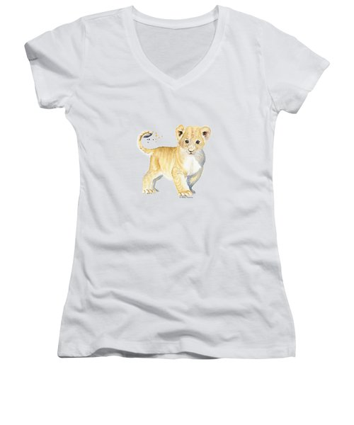 Little Lion Women's V-Neck T-Shirt
