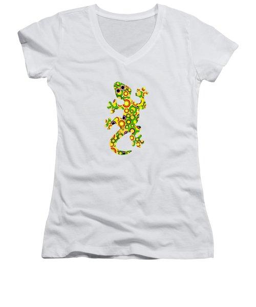 Little Lizard - Animal Art Women's V-Neck