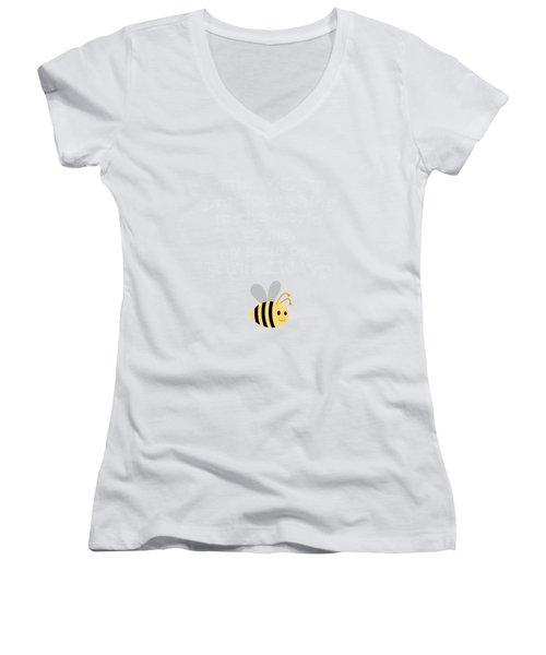 Little One Blue Women's V-Neck T-Shirt (Junior Cut) by Inspired Arts