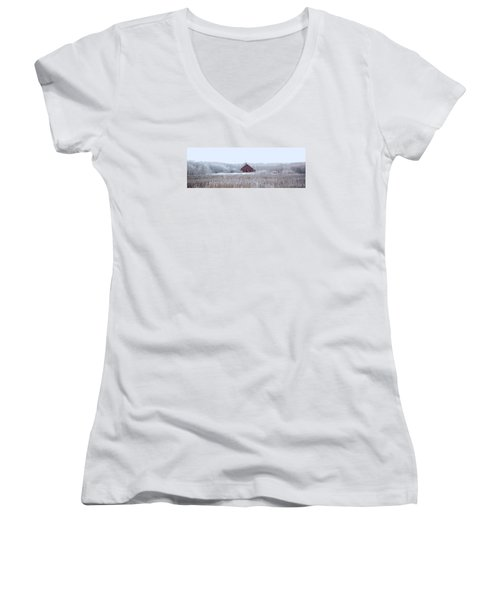 Little Red House Women's V-Neck (Athletic Fit)