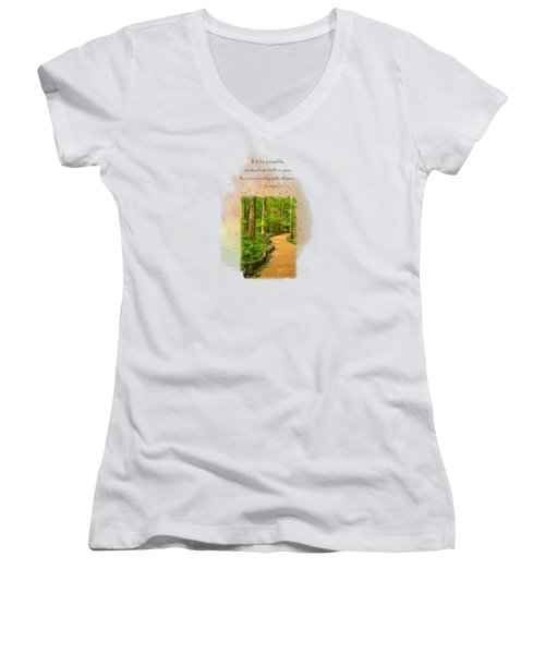Live In Peace Women's V-Neck (Athletic Fit)
