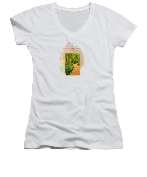 Live In Peace Women's V-Neck T-Shirt
