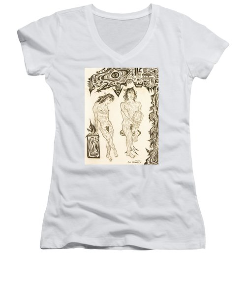 Live Nude 10 Female Women's V-Neck (Athletic Fit)