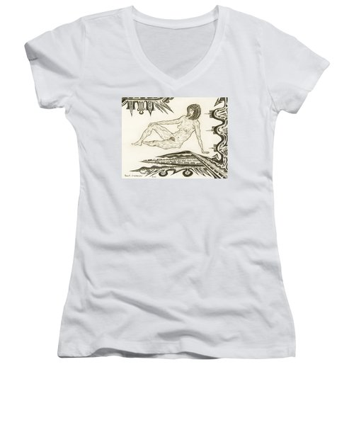 Live Nude 4 Female Women's V-Neck (Athletic Fit)
