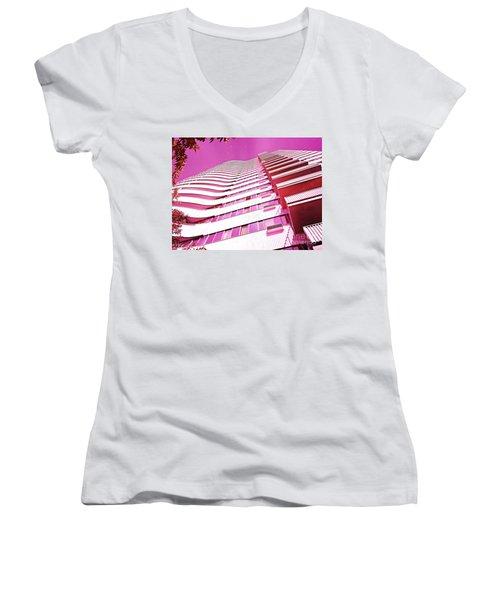 Living Pink Women's V-Neck