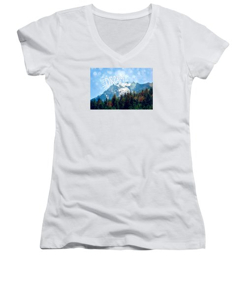 Women's V-Neck T-Shirt (Junior Cut) featuring the photograph Living The Dream by Robin Dickinson