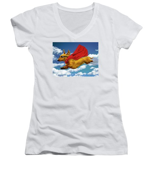 Local Hero Women's V-Neck (Athletic Fit)
