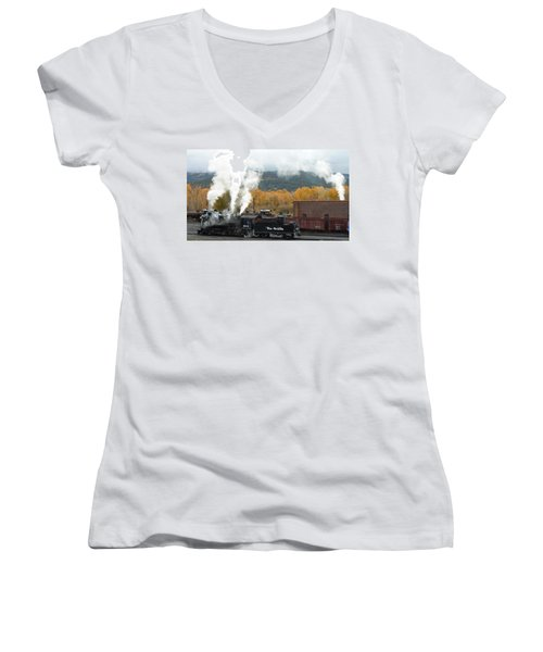 Locomotive At Chama Women's V-Neck (Athletic Fit)