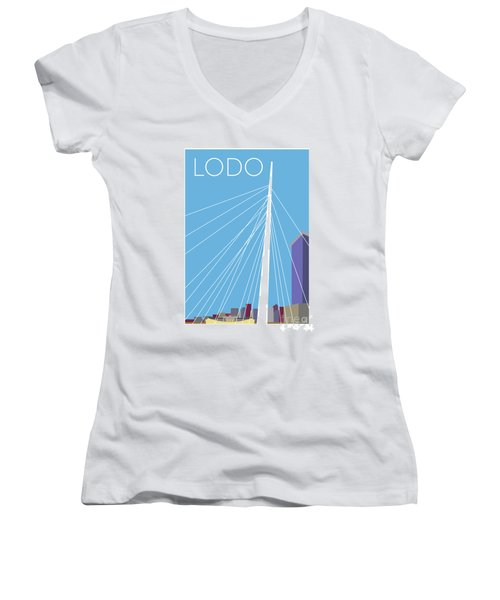 Lodo/blue Women's V-Neck (Athletic Fit)