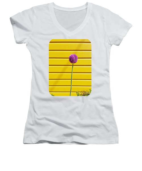 Lollipop Head Women's V-Neck T-Shirt (Junior Cut) by Ethna Gillespie
