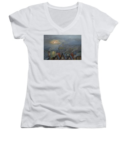 London Fog Women's V-Neck T-Shirt