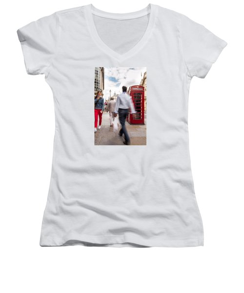 London In Motion Women's V-Neck (Athletic Fit)