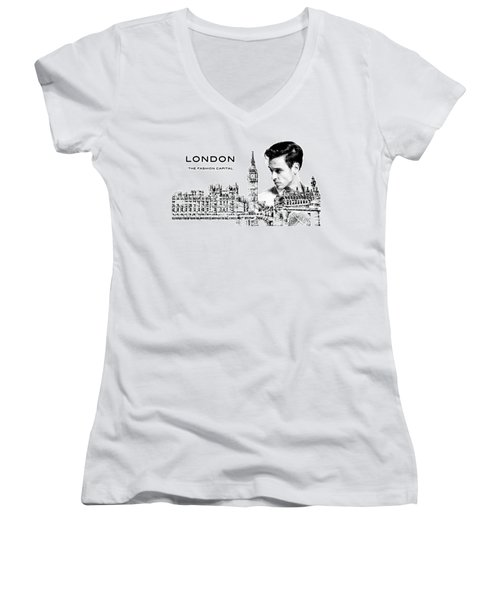 London The Fashion Capital Women's V-Neck