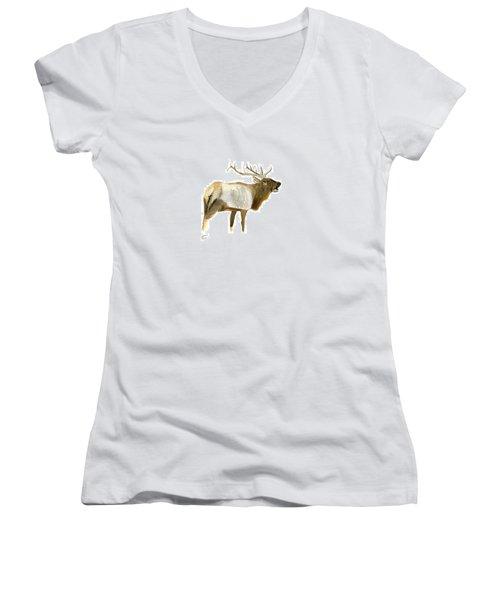 Lone Elk Women's V-Neck T-Shirt