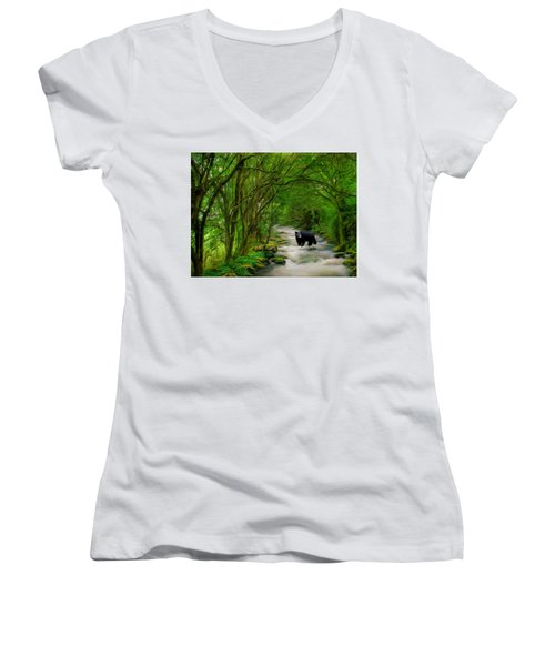 Lonely Hunter Women's V-Neck T-Shirt