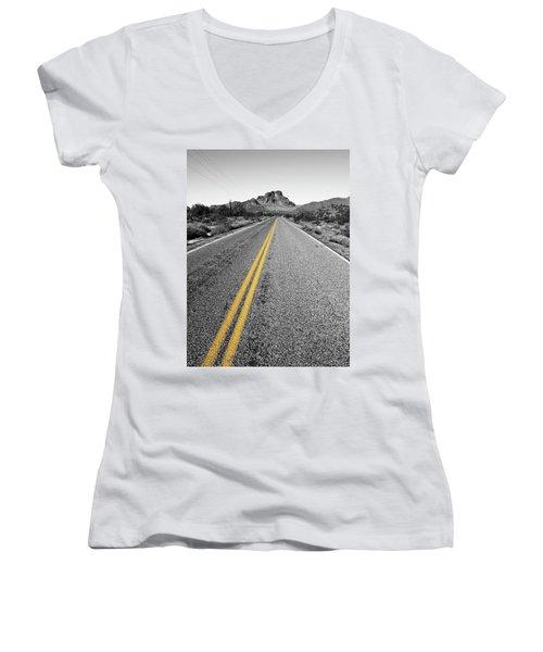 Lonely Road Women's V-Neck T-Shirt