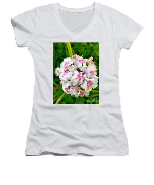 Long Awaited Blooms Women's V-Neck (Athletic Fit)