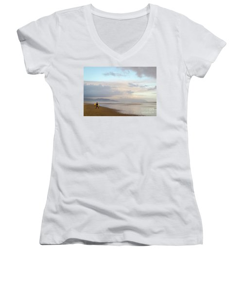 Long Day Surfing Women's V-Neck