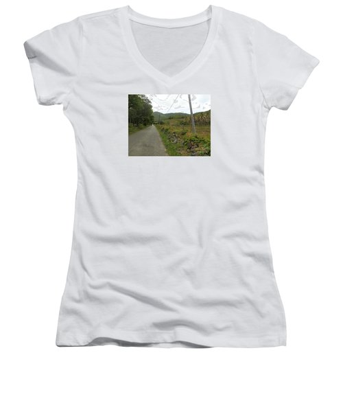 Long Road Into Colombier Women's V-Neck T-Shirt