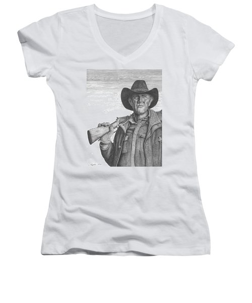 Longmire Women's V-Neck T-Shirt (Junior Cut) by Lawrence Tripoli