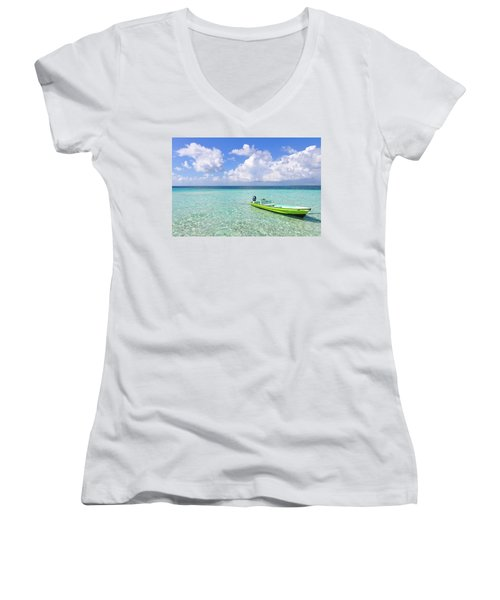 Look At This Beautiful Blue Water Women's V-Neck (Athletic Fit)
