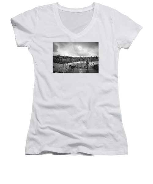 Looking And Passing By Women's V-Neck
