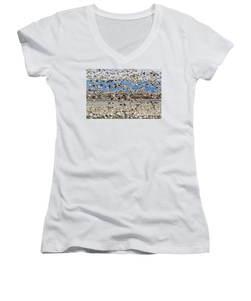 Looking For A Place To Land Women's V-Neck