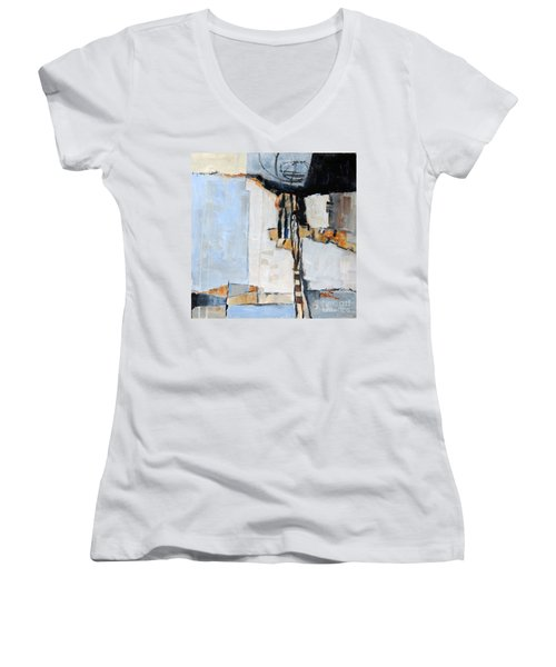 Looking For A Way Out Women's V-Neck T-Shirt (Junior Cut) by Ron Stephens