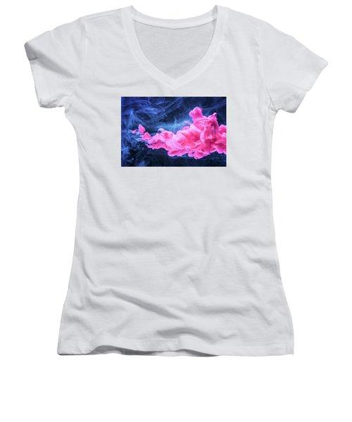 Looking For Fun - Modern Art Photography Women's V-Neck T-Shirt (Junior Cut) by Modern Art Prints