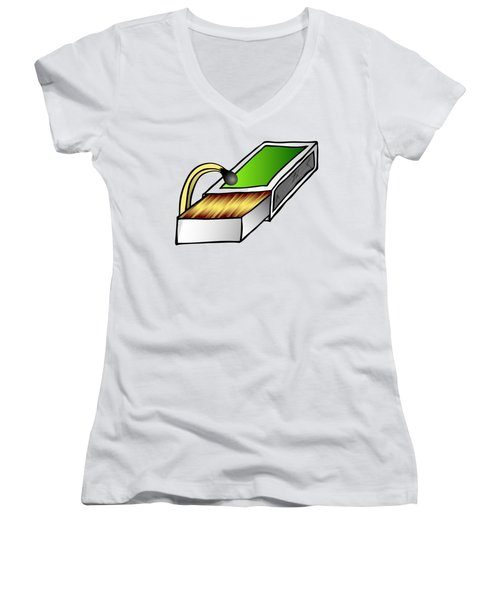 Looking For Women's V-Neck T-Shirt (Junior Cut) by Michal Boubin