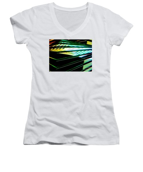 Looking Inside  Women's V-Neck T-Shirt