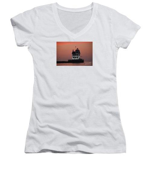 Lorain Lighthouse 1 Women's V-Neck T-Shirt