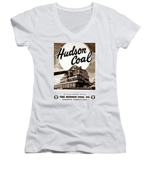 Loree Colliery Larksville Pa. Hudson Coal Co  Women's V-Neck T-Shirt