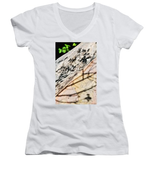 Women's V-Neck T-Shirt (Junior Cut) featuring the photograph Los Padres Stone by Kyle Hanson