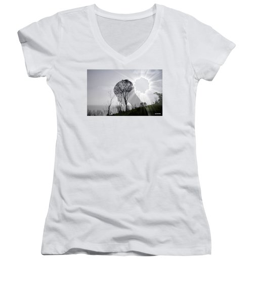 Lost Connection With Nature Women's V-Neck T-Shirt (Junior Cut) by Paulo Zerbato