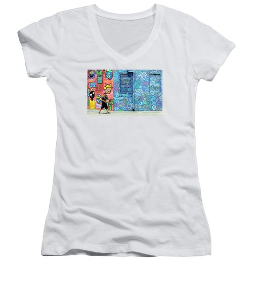 Lost In Translation Women's V-Neck T-Shirt (Junior Cut) by Keith Armstrong