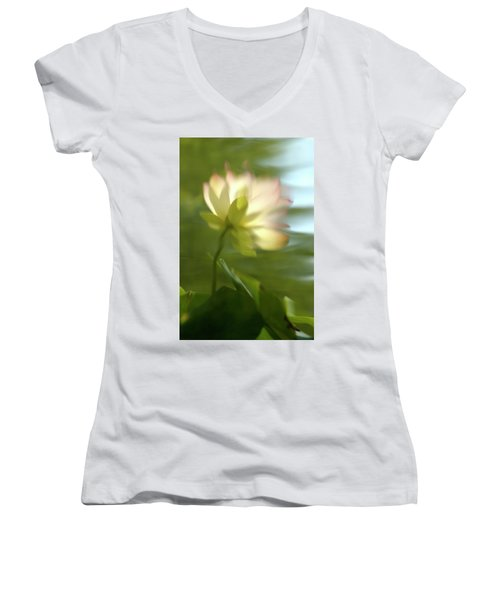 Lotus Reflection Women's V-Neck