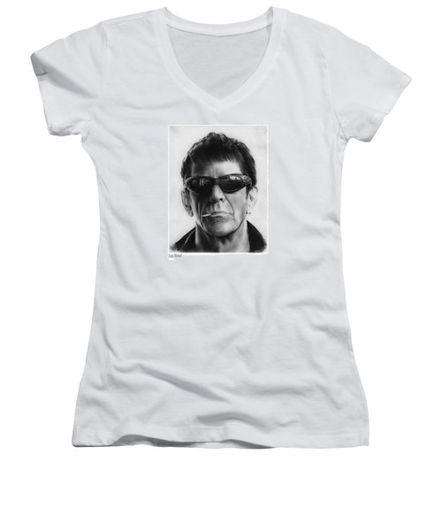 Lou Reed Women's V-Neck (Athletic Fit)