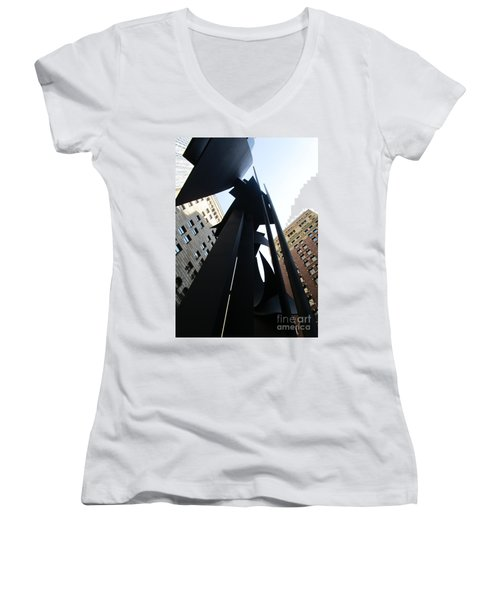 Louise Nevelson Plaza 1 Women's V-Neck (Athletic Fit)