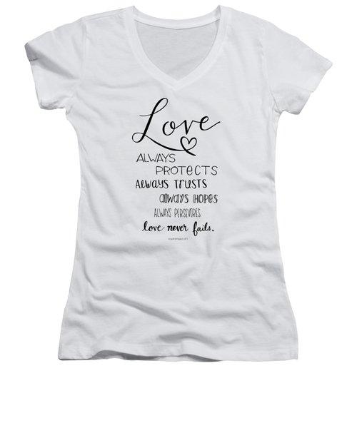 Love Always Women's V-Neck