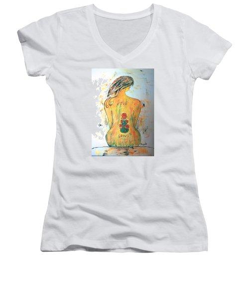 Love Grows.... Women's V-Neck T-Shirt