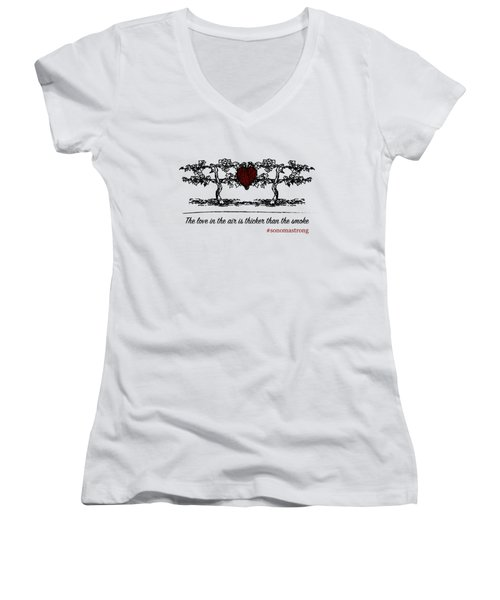 Love In The Air Women's V-Neck (Athletic Fit)