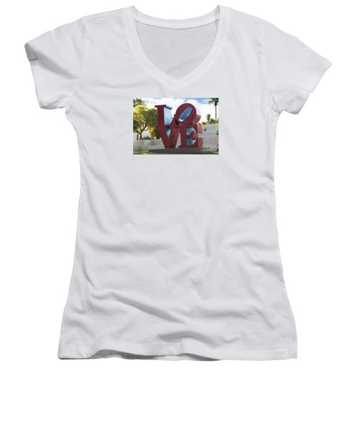 Love In The Park Women's V-Neck (Athletic Fit)