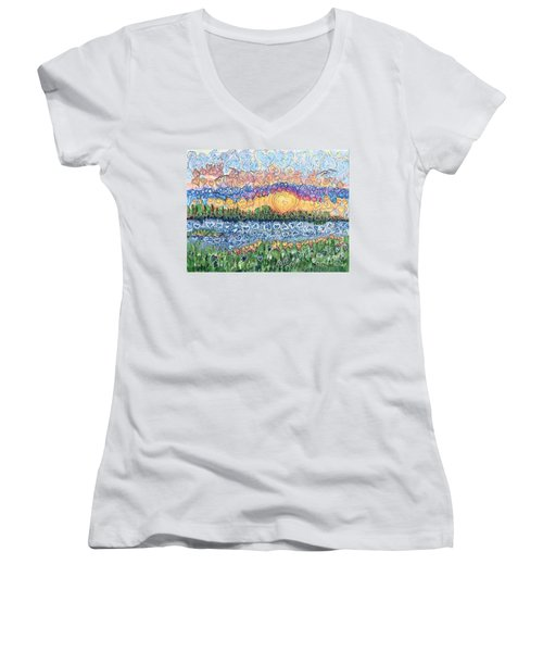 Love Is Everywhere If You Look Women's V-Neck