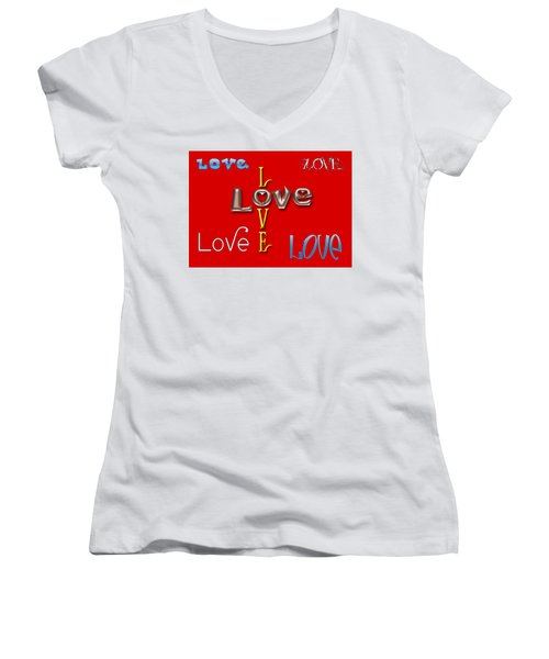 Love Love Love Women's V-Neck