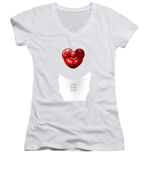Love Poster Women's V-Neck