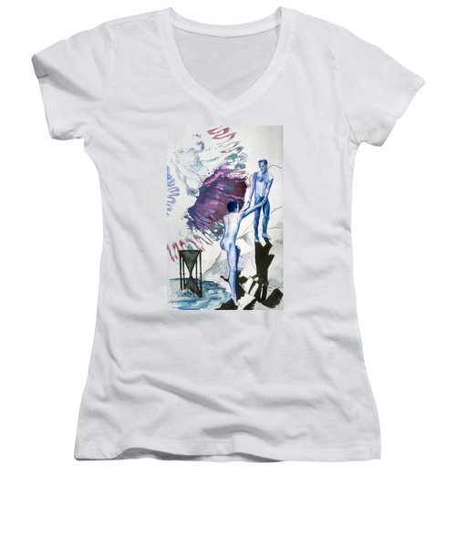 Love Metaphor - Drift Women's V-Neck (Athletic Fit)