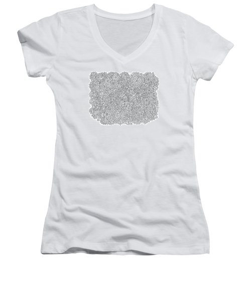 Love Moscow Women's V-Neck T-Shirt (Junior Cut) by Tamara Kulish