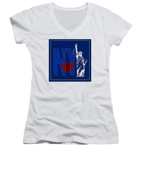 Love New York Women's V-Neck