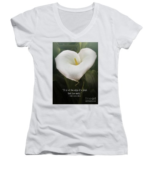 Women's V-Neck T-Shirt featuring the photograph Love by Peggy Hughes